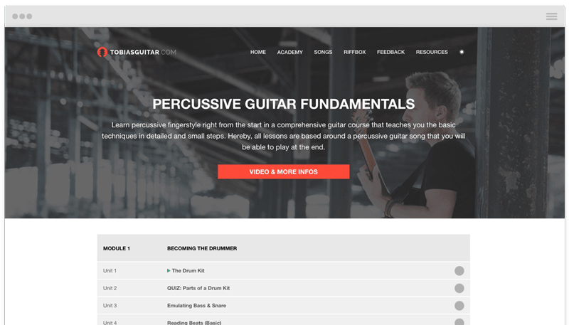 Percussive Guitar Fundamental Course