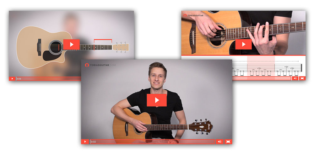 Fingerstyle Guitar Lessons + Tabs and Fretboard Animations