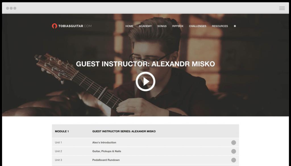 Alexandr Misko fingerstyle guitar masterclass, tabs