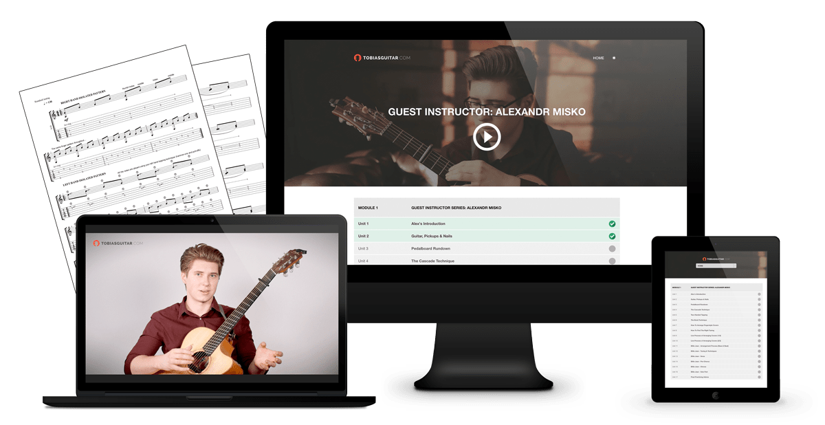 Alexandr Misko Guitar Lessons and TABs