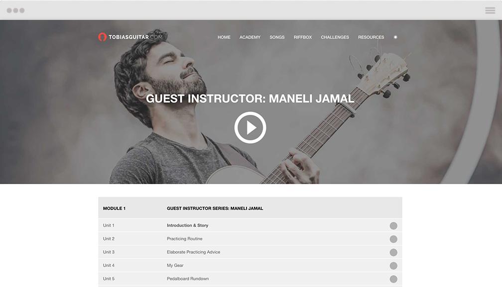 Maneli Jamal fingerstyle guitar masterclass, tabs